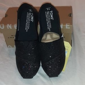 TOMS YOUTH CLASSIC BLACK IRIDESCENT GLIMMER